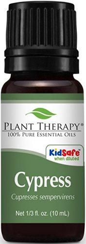 Bottle of cypress essential oil