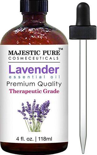 Bottle of lavender oil and dropper