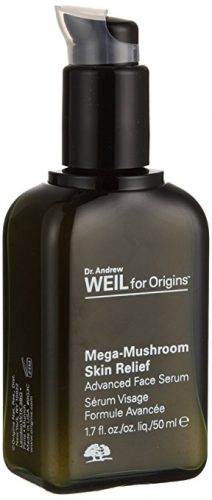 Bottle of Origins Dr. Andrew Mega-Mushroom Skin Relief Advanced Face Serum